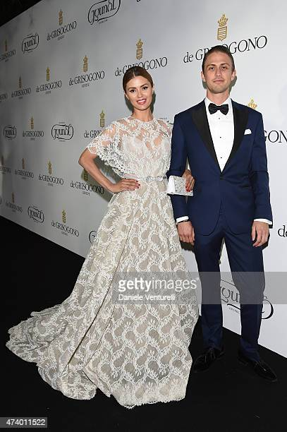 Victoria Bonya and guest attend the De Grisogono party during the 68th annual Cannes Film Festival on May 19 2015 in Cap d'Antibes France