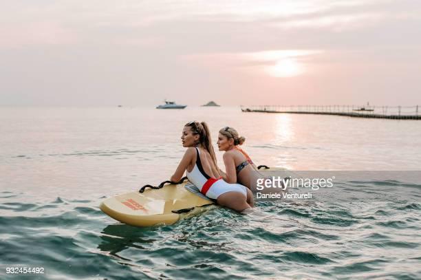 Victoria Bonya and Hofit Golan are seen at Trisara Resort on March 15 2018 in Phuket Thailand