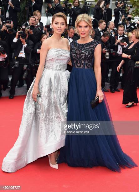 Victoria Bonya and Hofit Golan attend the Opening Ceremony and the 'Grace of Monaco' premiere during the 67th Annual Cannes Film Festival on May 14...