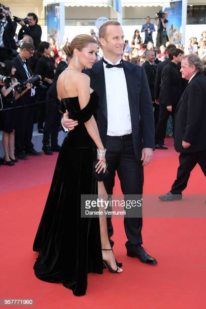"""Victoria Bonya and Pierre Andurand attend the screening of """"Girls Of The Sun """" during the 71st annual Cannes Film Festival at Palais des Festivals on..."""