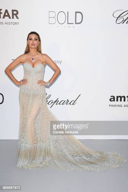 Victoria Bonya arrives at the amfAR Gala Cannes 2018 at Hotel du CapEdenRoc on May 17 2018 in Cap d'Antibes France