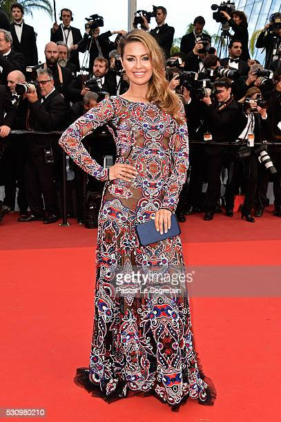 Victoria Bonya attends the 'Money Monster' premiere during the 69th annual Cannes Film Festival at the Palais des Festivals on May 12 2016 in Cannes...