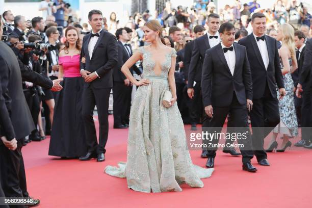 """Victoria Bonya attends the screening of """"Everybody Knows """" and the opening gala during the 71st annual Cannes Film Festival at Palais des Festivals..."""
