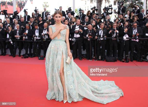 Victoria Bonya attends the screening of 'Everybody Knows ' and the opening gala during the 71st annual Cannes Film Festival at Palais des Festivals...