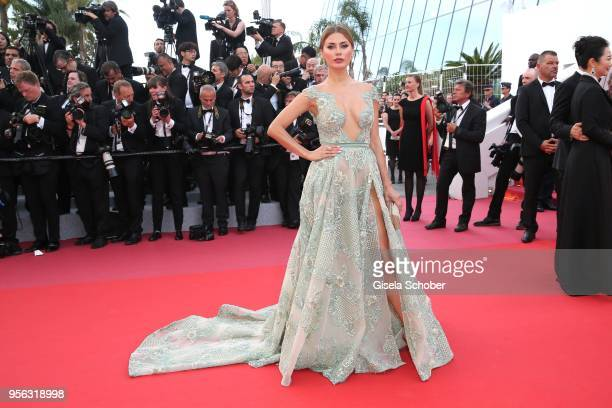 Victoria Bonya attends the screening of Everybody Knows and the opening gala during the 71st annual Cannes Film Festival at Palais des Festivals on...