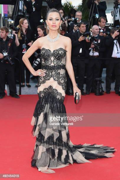 Victoria Bonya attends the 'Two Days One Night' premiere during the 67th Annual Cannes Film Festival on May 20 2014 in Cannes France