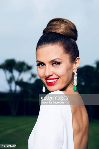 Victoria Bonya is photographed at AmfAR's 21st Cinema Against AIDS Gala on May 22 2014 in Cap d'Antibes France