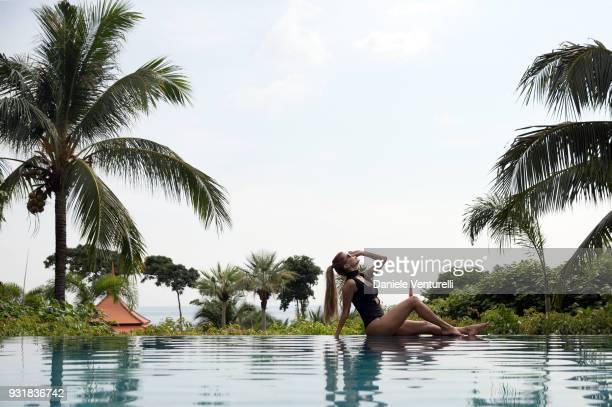 Victoria Bonya is seen at Trisara Resort on March 14 2018 in Phuket Thailand