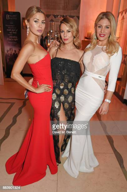 Victoria Bonya Juliet Angus and Hofit Golan attend the BOVET 1822 Brilliant is Beautiful Gala benefitting Artists for Peace and Justice's Global...