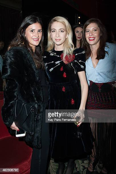 Victoria Botano Sabine Ghanem and Sofia Guellaty attend the Sabine Ghanem New Jewellery Collection launch at the Mathis Paris Fashion Week Haute...