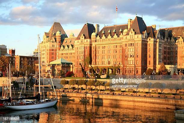 Victoria British Columbia Spring Evening With Empress Hotel.