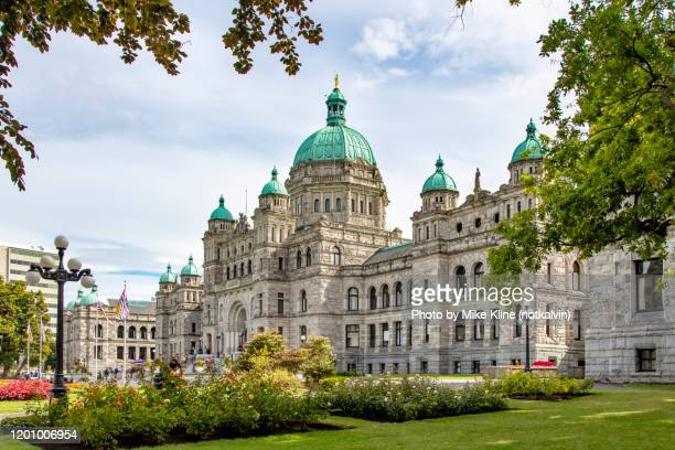 victoria, british columbia's parliament building - victoria canada stock pictures, royalty-free photos & images