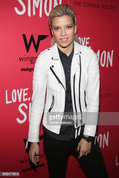 Victoria Brito attends 20th Century Fox Wingman host a screening of 'Love Simon' on March 8 2018 in New York City