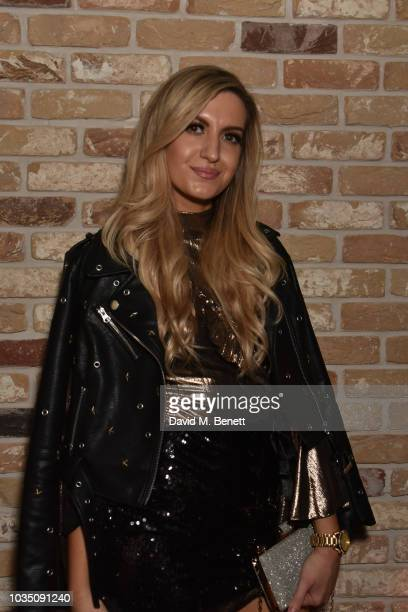 Victoria Brown attends the Edeline Lee X Glass Magazine party during London Fashion Week September 2018 at Kadie's Cocktail Bar Club on September 17...