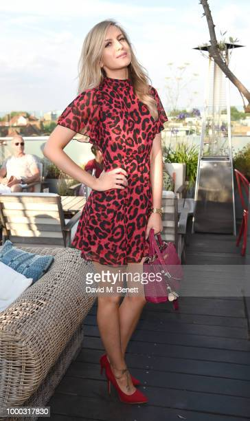 Victoria Brown attends the launch of the collaboration between House of Holland Papier on July 16 2018 in London England The collaboration came about...