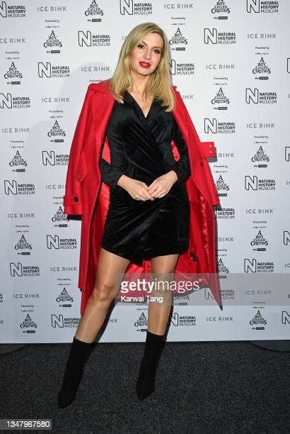 Victoria Brown attends the Natural History Museum Ice Rink 2021 Launch at Natural History Museum Ice Rink on October 21, 2021 in London, England.
