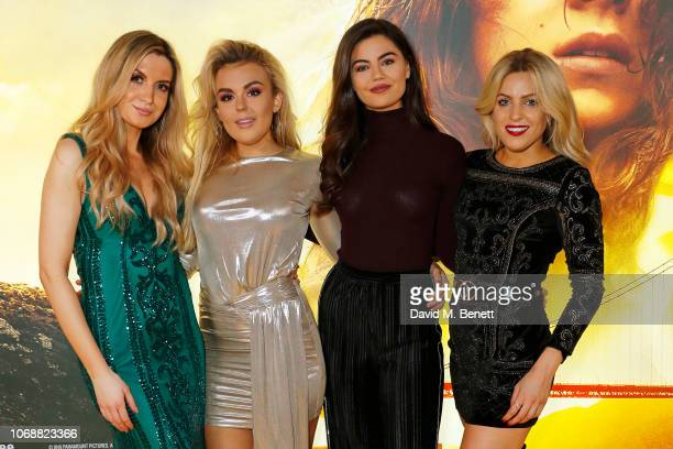 Victoria Brown Tallia Storm Emily Canham and Olivia Cox attend the UK Fan Screening for Bumblebee at IMAX Cineworld Leicester Square on December 5...