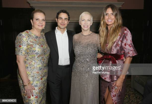Victoria Brynner Zac Posen Annie Lennox and Heidi Klum attend The Elizabeth Taylor AIDS Foundation and mothers2mothers dinner at Ron Burkle's Green...
