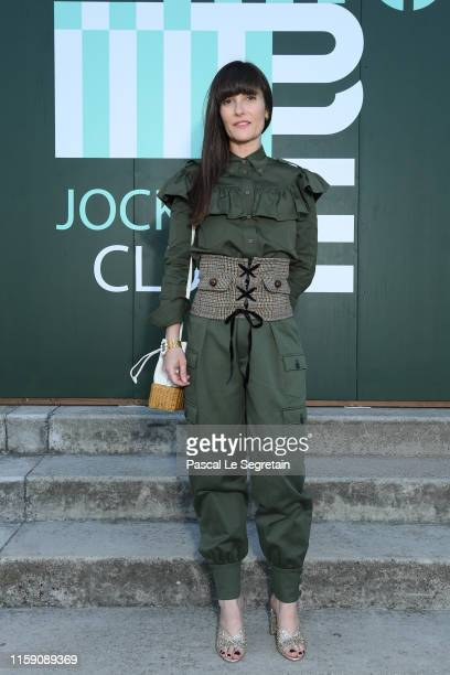 Victoria Cabello attends miu miu club event at Hippodrome d'Auteuil on June 29 2019 in Paris France