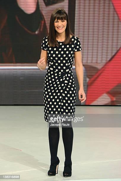 Victoria Cabello hosts 'Quelli Che Il Calcio' Italian TV Show on February 5 2012 in Milan Italy