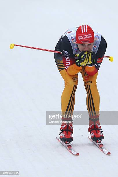 Victoria Carl of Germany competes in the Women's Prologue 3km free individual at the Viessmann FIS Cross Country World Cup event at DKB Ski Arena on...