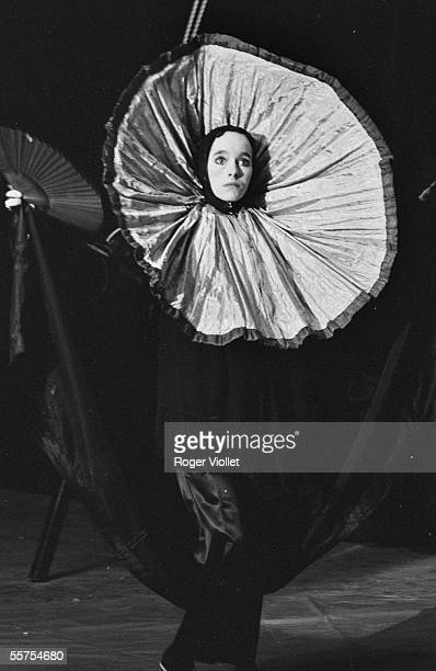 Victoria Chaplin artist in the spectacle of the imaginary realized Circus together with JeanBaptiste Thierree Paris Forum of the Halle on 1978...
