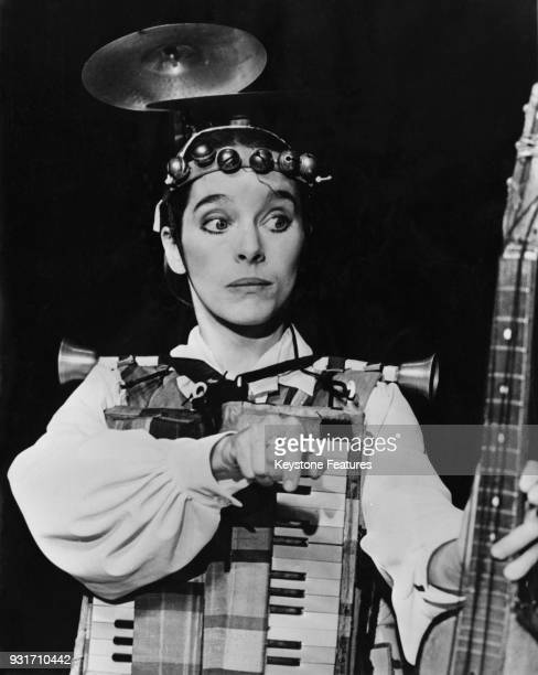 Victoria Chaplin daughter of actor Charlie Chaplin performs with her circus Le Cirque Bonjour in Paris France 1978