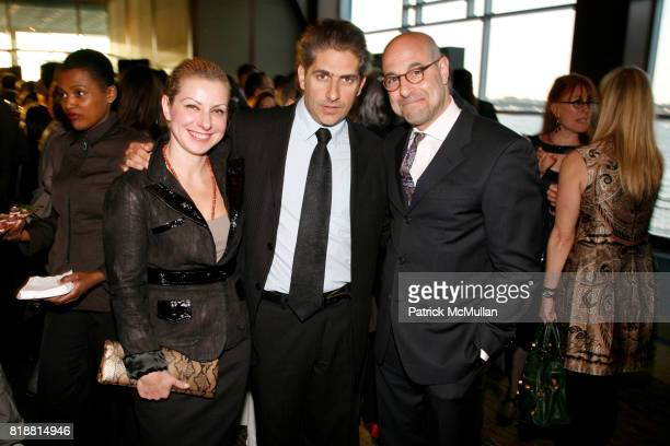 Victoria Chlebowski Michael Imperioli and Stanley Tucci attend LOWER MANHATTAN CULTURAL COUNCIL hosts the 2010 Downtown Dinner at Pier 60 on April 12...