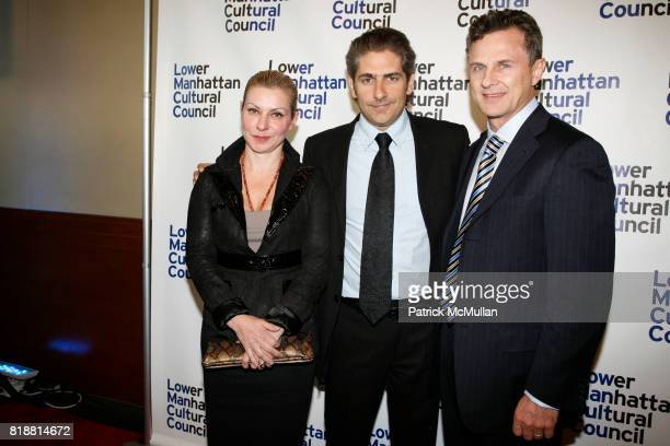 Victoria Chlebowski Michael Imperioli and Timur Galen attend LOWER MANHATTAN CULTURAL COUNCIL hosts the 2010 Downtown Dinner at Pier 60 on April 12...