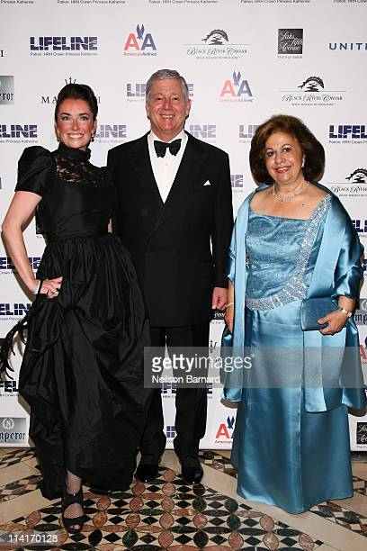 Victoria Christian HRH Crown Prince Alexander II of Serbia and HRH Crown Princess Katherine of Serbia attend The Princes Ball II A Masquerade Gala at...