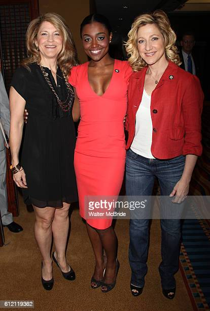 Victoria Clark Patina Miller Edie Falco attending the 65th Annual Tony Awards Meet The Nominees Press Reception at the Millennium Hotel in New York...
