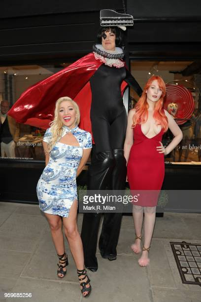 Victoria Clay and Alexis Knox attending the opening of the Bluebierd Cafe Covent Garden store on May 17 2018 in London England