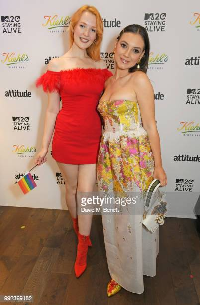 Victoria Clay and Andreea Cristea attend Kiehl's 'We Are Proud' party to celebrate Pride on July 5 2018 in London England