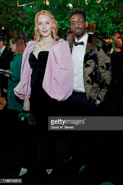 Victoria Clay and Joe Hagan attend the 13th annual Emeralds Ivy Ball in partnership with Cancer Research UK and The Marie Keating Foundation at Old...