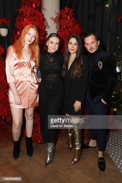 Victoria Clay Andreea Cristea Nurce Erben and Cosmin Cernica at Fucina's Festa Italiana on November 20 2018 in London England