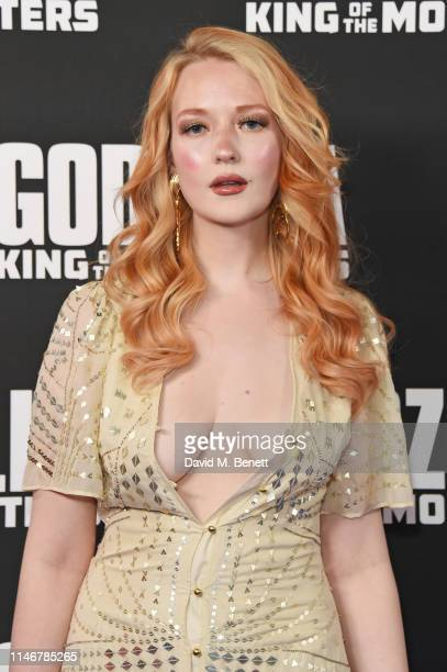 """Victoria Clay attends a special screening of """"Godzilla II: King Of The Monsters"""" at Cineworld Leicester Square on May 28, 2019 in London, England."""