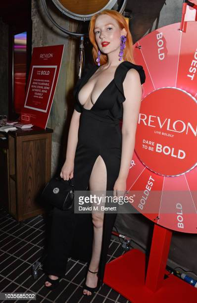 Victoria Clay attends the Adwoa Aboah X Revlon 'Live Boldly' party during London Fashion Week September 2018 on September 18 2018 in London United...