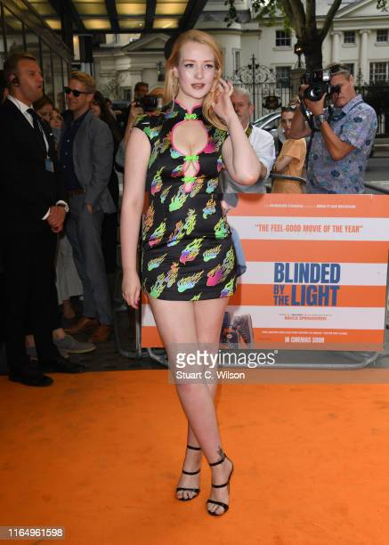 "Victoria Clay attends the ""Blinded By The Light"" UK Gala Screening at the Curzon Mayfair on July 29, 2019 in London, England."
