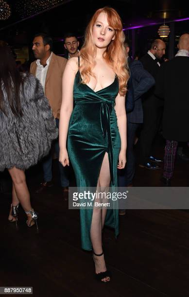 Victoria Clay attends the Tempus Magazine annual Christmas Party at The Rumpus Room Mondrian Hotel on December 7 2017 in London England