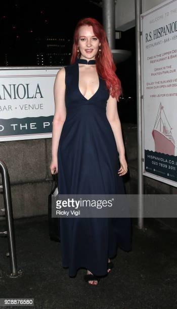Victoria Clay seen attending Mark Hill International Women's Day event at MV Hispaniola on March 7 2018 in London England