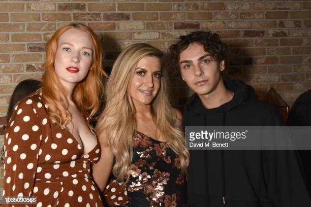 Victoria Clay Victoria Brown and Stevie Ruffs attend the Edeline Lee X Glass Magazine party during London Fashion Week September 2018 at Kadie's...