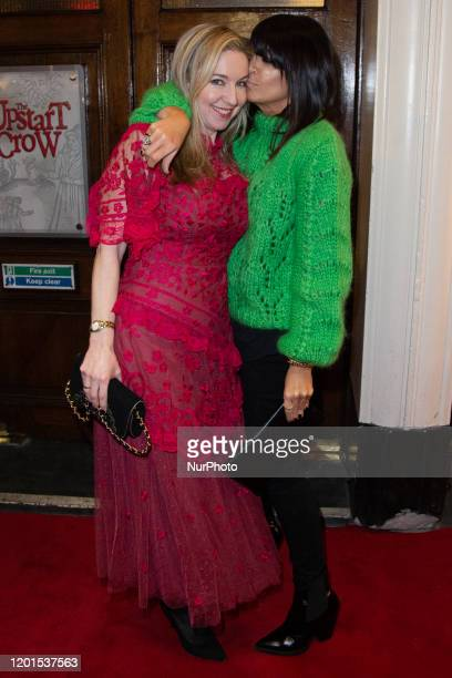 Victoria Coren Mitchell and Claudia Winkleman attends Press Night of The Upstart Crow at the GIELGUD THEATRE, SHAFTESBURY AVE 17 February 2020 in...