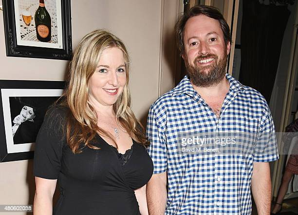 Victoria Coren Mitchell and David Mitchell attend an after party following the press night performance of The Mentalists at Kettner's on July 13 2015...