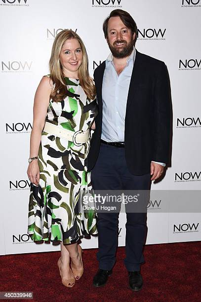 Victoria Coren Mitchell and David Mitchell attend the European premiere of 'Now' at The Empire Leicester Square on June 9 2014 in London England