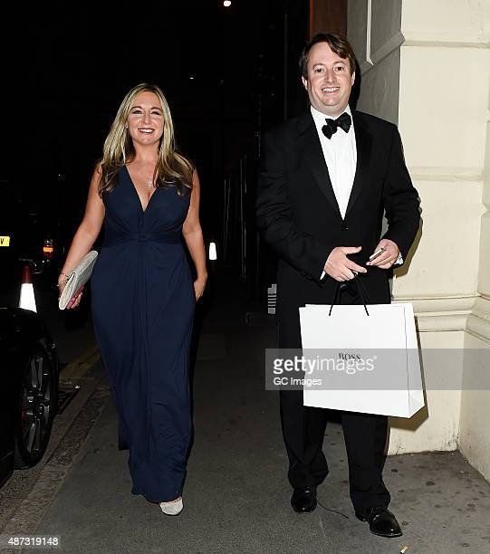 Victoria Coren Mitchell and David Mitchell attend The GQ Man of The Year Awards 2015 on September 8 2015 in London England