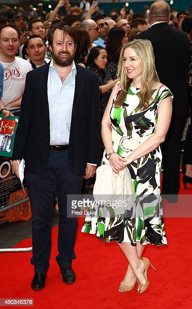 Victoria Coren Mitchell and David Mitchell attend the NOW UK Premiere at Empire Leicester Square on June 9 2014 in London England