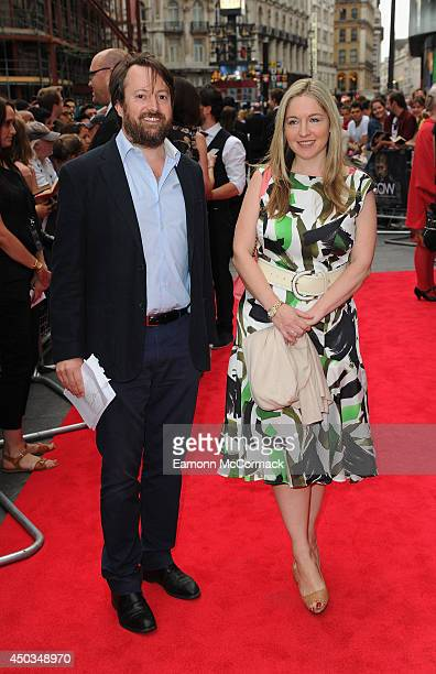 Victoria Coren Mitchell and David Mitchell attend the UK Premiere of Now at Empire Leicester Square on June 9 2014 in London England