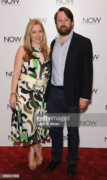 Victoria Coren Mitchell and David Mitchell attends the UK Premiere of Now at Empire Leicester Square on June 9 2014 in London England