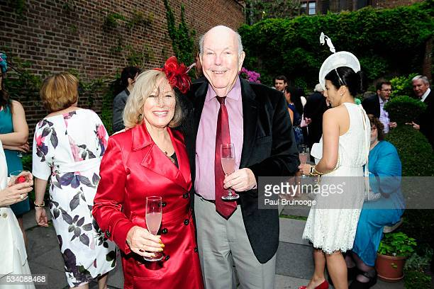 Victoria Crosby and guest attend Historic Royal Palaces Patrons Secret Garden Party at Merchant's House Museum on May 24 2016 in New York City