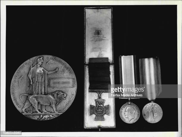Victoria Cross in original presentation case Death Plague World War I Medal and Victory MedalMedals for auction at Spink amp Son APA Building Martin...